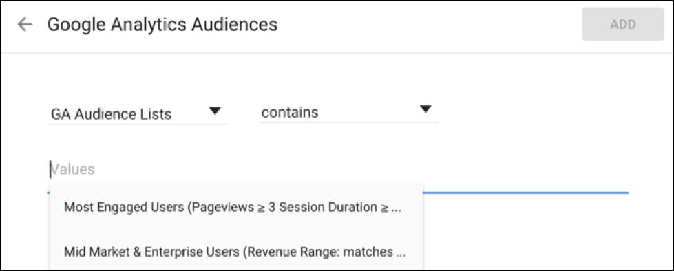 Google Optimize Audiences 3
