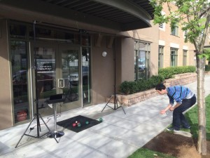 testing the bocce measurement capabilities outside our office