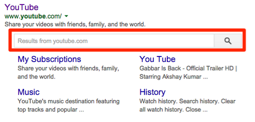 Use structured data to add a search box to your search results listing