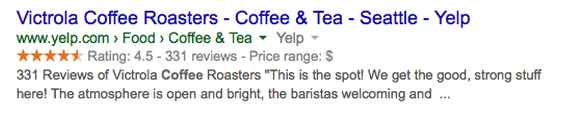 One form of structured data is rich snippets