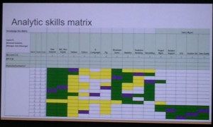 analytics skills matrix