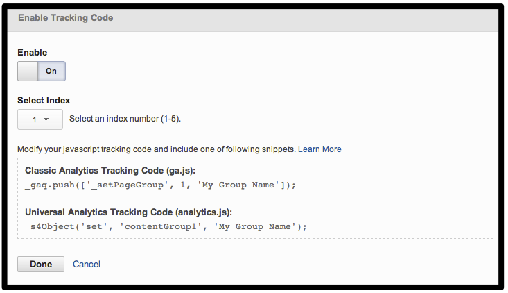 Content-Grouping-Tracking Code