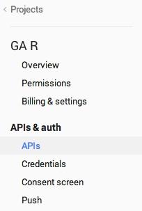 Google Developers Console APIs